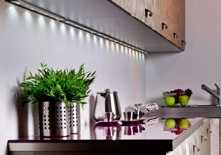 что светодиодные светильники на кухне фото чеширского