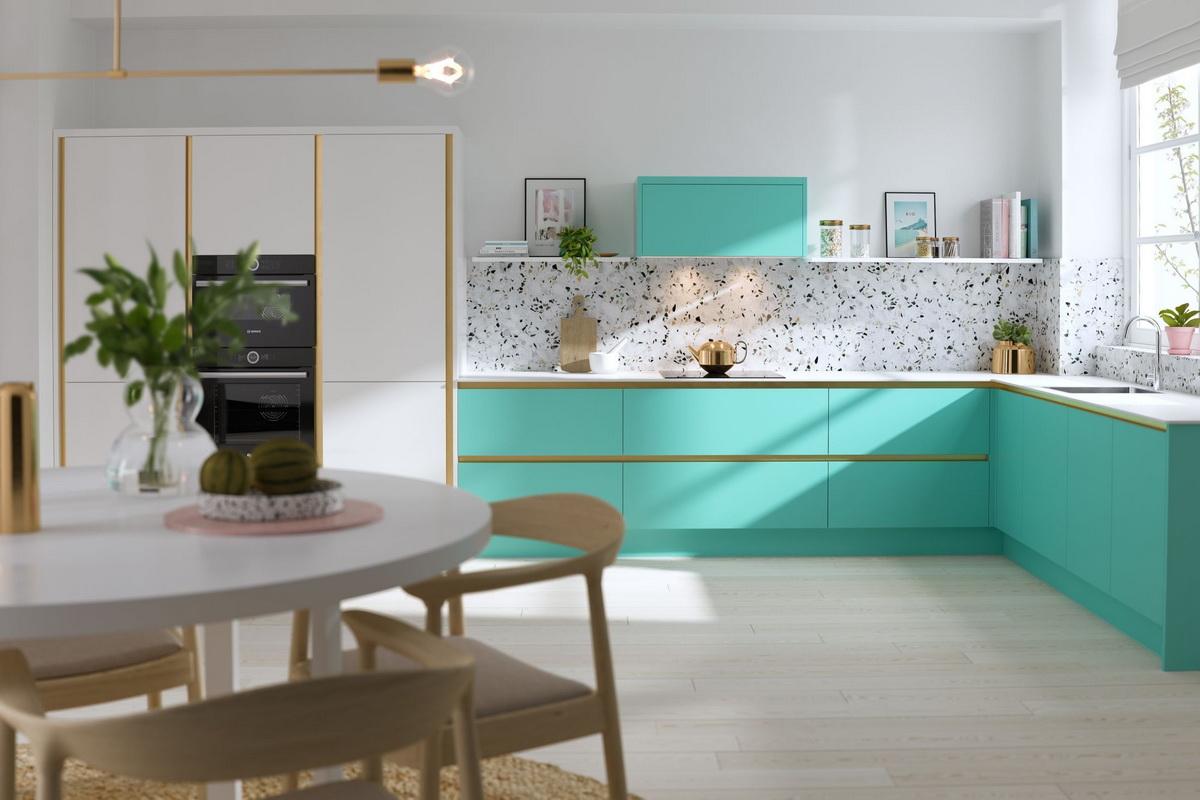 Кухня бирюзового цвета — 50 фото дизайна кухни с бирюзовым оттенком