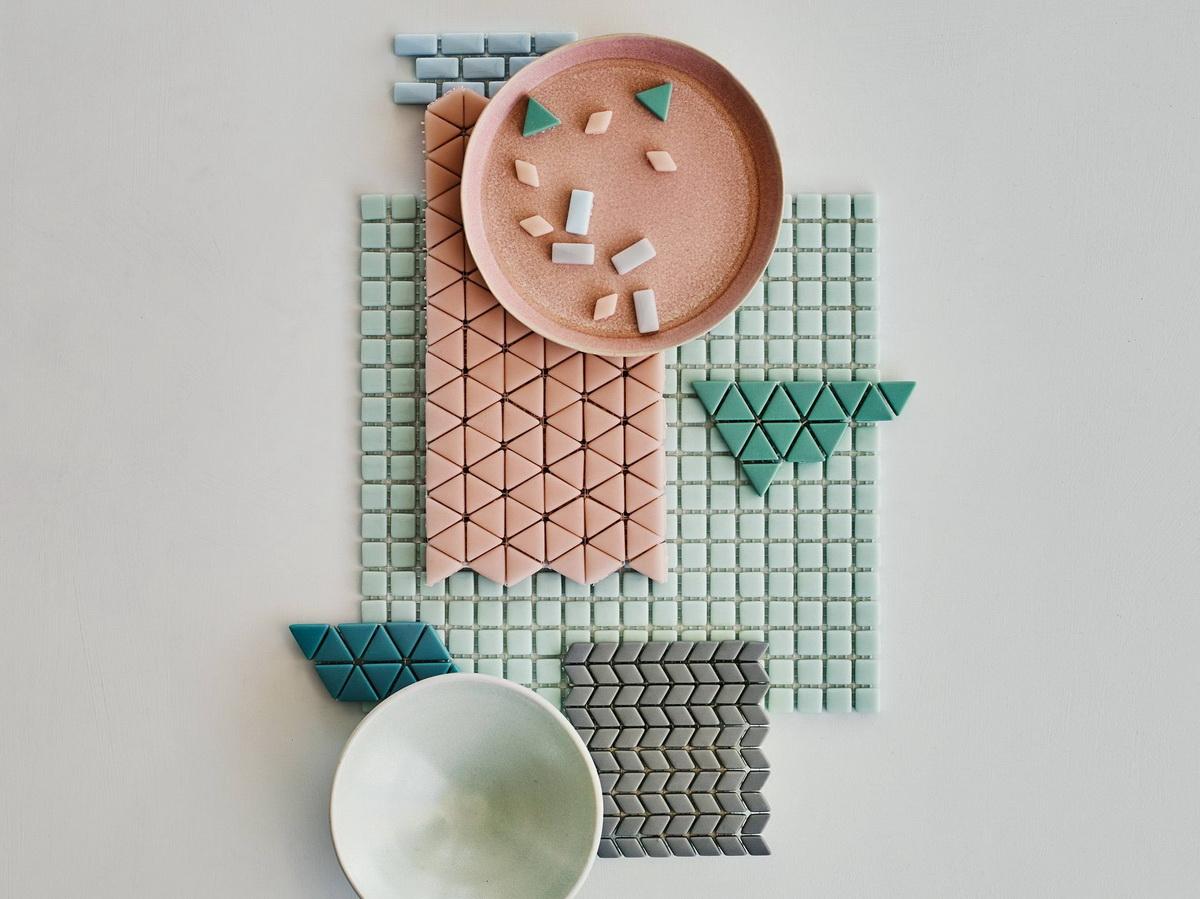 фартук из мозаики на кухне